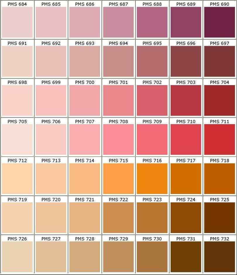 nuancier pantone rose biolet rouge orange marron d co. Black Bedroom Furniture Sets. Home Design Ideas