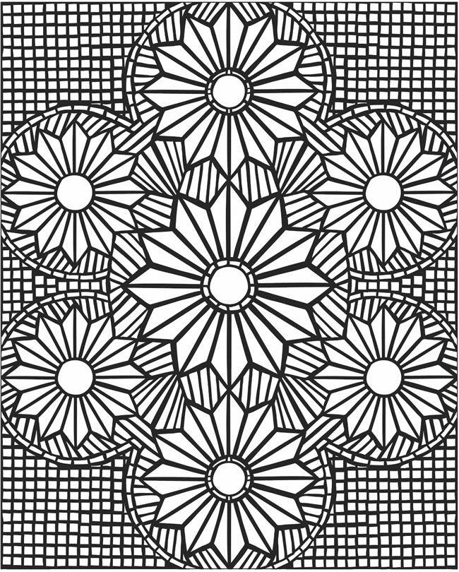 Mosaic Coloring Page Free Printable Diy Craft