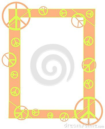 A nice frame with peace symnols. An idea that can be used in ...