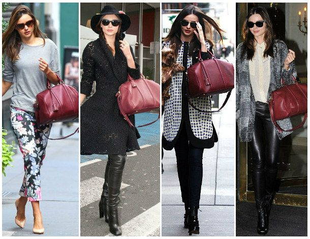 406Wardrobe Remix - Miranda Kerr's Burgundy Louis Vuitton Bag
