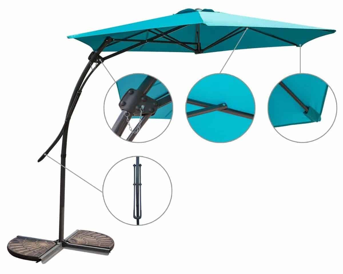 MYAL 9ft Offset Patio Umbrella - MYAL 9ft Offset Patio Umbrella Top 10 Best Offset Patio Umbrellas