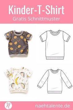 T-Shirt für Kinder - Freebook für Kurz- und Langarmshirts #håndarbejde Nähen für den Frühling #nähen #freebook #schnittmuster #gratis #nähenmachtglücklich #freesewingpattern #handmade #diy