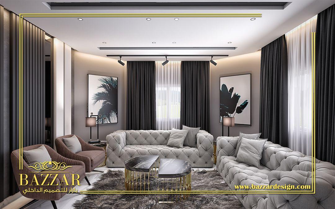 مجلس نساء على الطراز المودرن تم استخدام الرخام الابيض فى الارضيات وتطعيم الحوائط بالواح الخشب Interior Design Design Home Decor