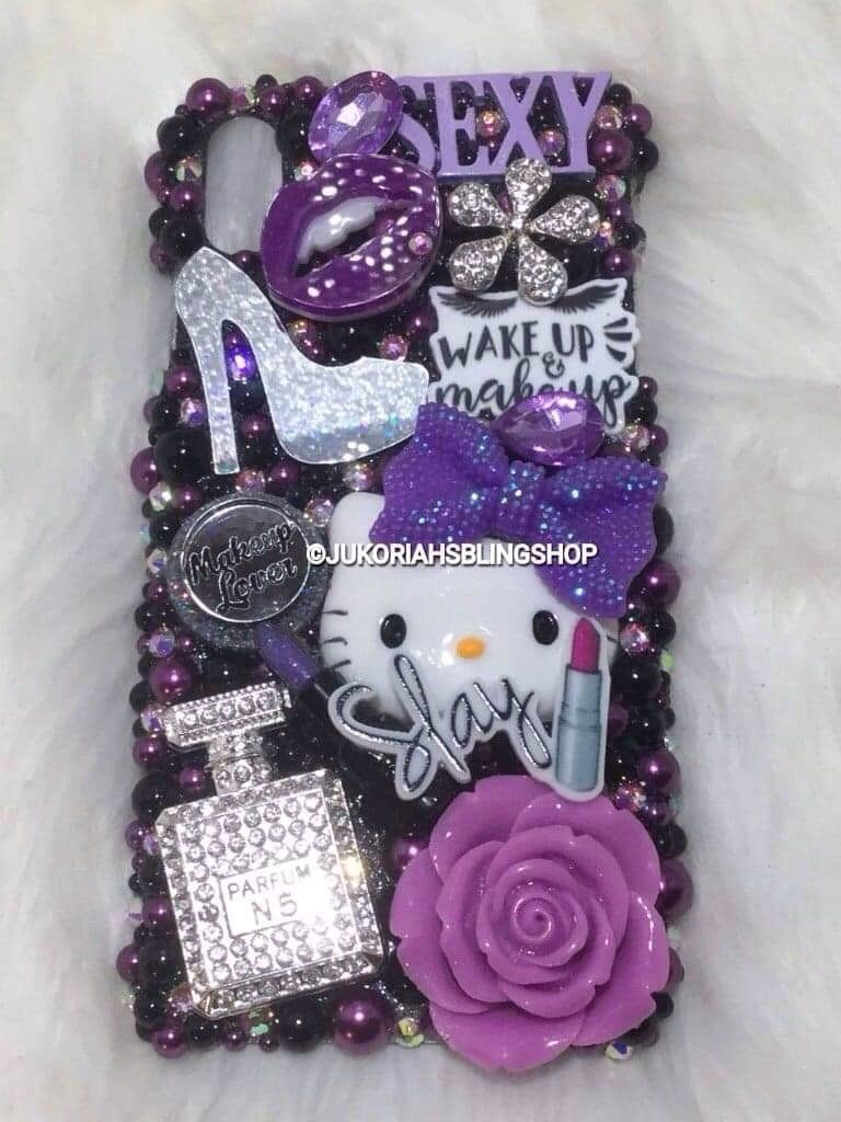 Bling iphone x max phone case bling phone cases diy