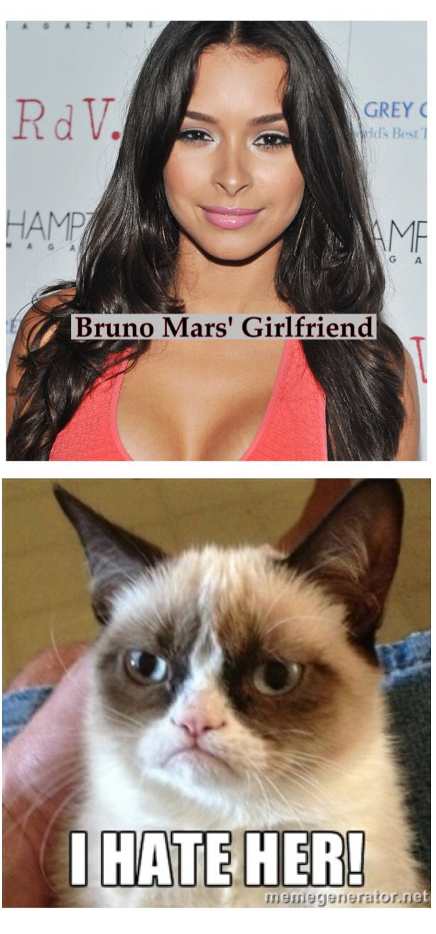 20 Very Funny Fashion Meme Images You Have Ever Seen: Bruno Mars Girlfriend. Grumpy Cat Meme How Mean Is Grumpy