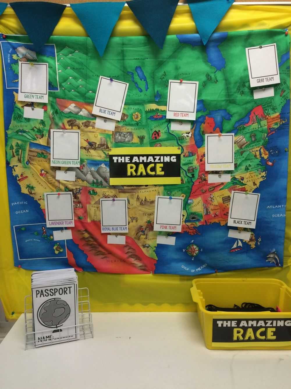 Geography Classroom Decor ~ The amazing race classroom transformation