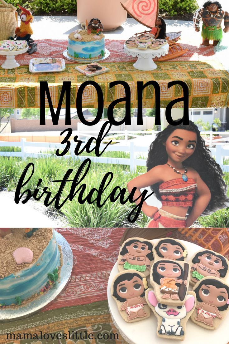 Mama Loves Little Moana Birthday Party Ideas Decorations Moana Birthday Party 2 Year Old Birthday Party Girl Third Birthday Party