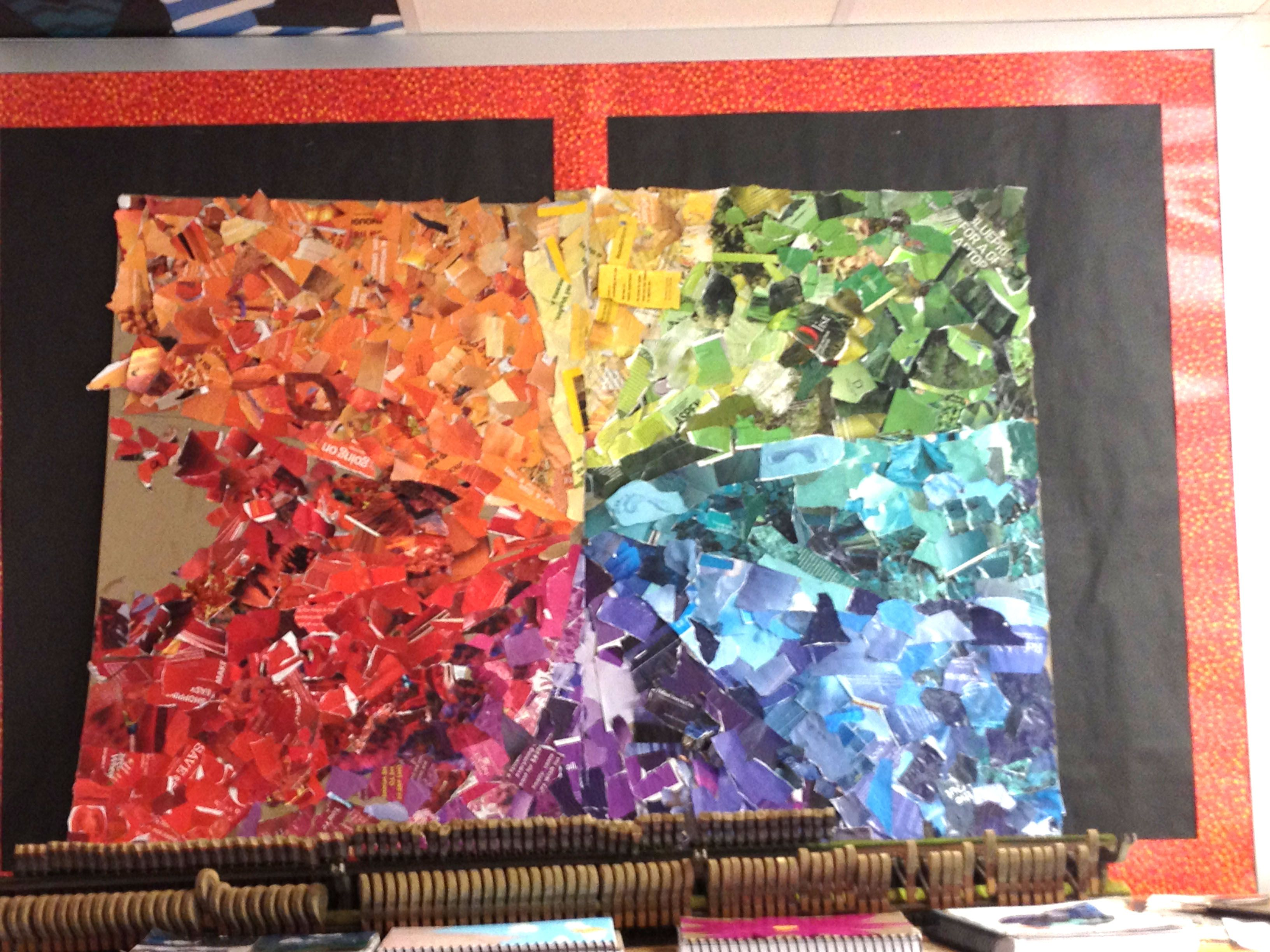 Collaged Color Wheel