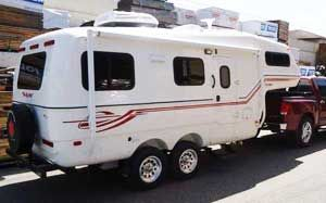 The Escape 5.0TA   Tiny 5th Wheel Trailer.
