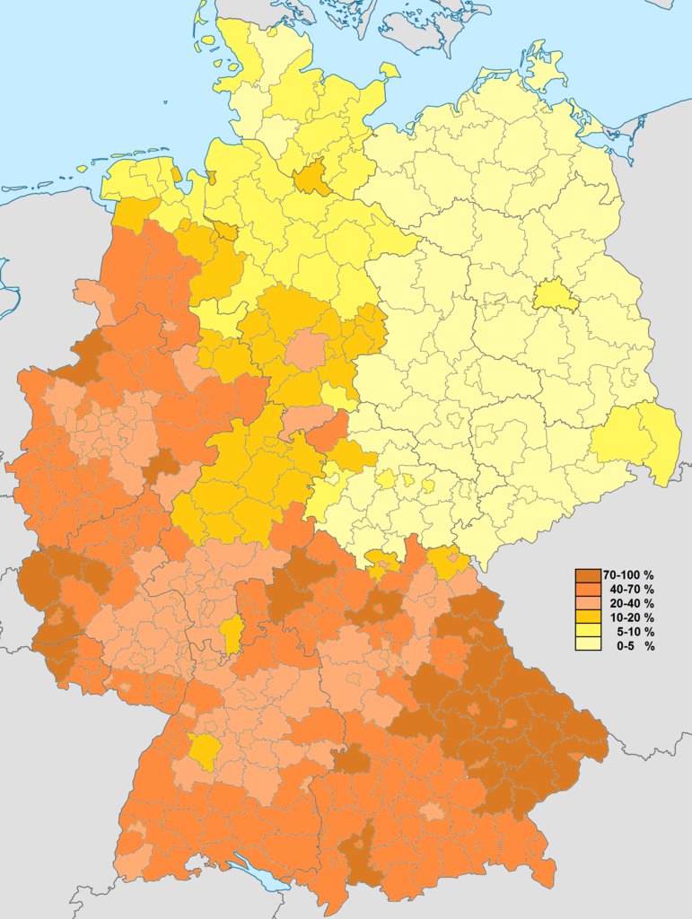 Maps Oldenburg Catholic Population Of Germany These Are The Numbers Of Members Of