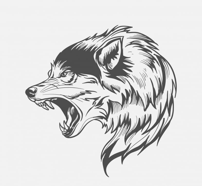 10 Plantillas de tatuajes de lobos