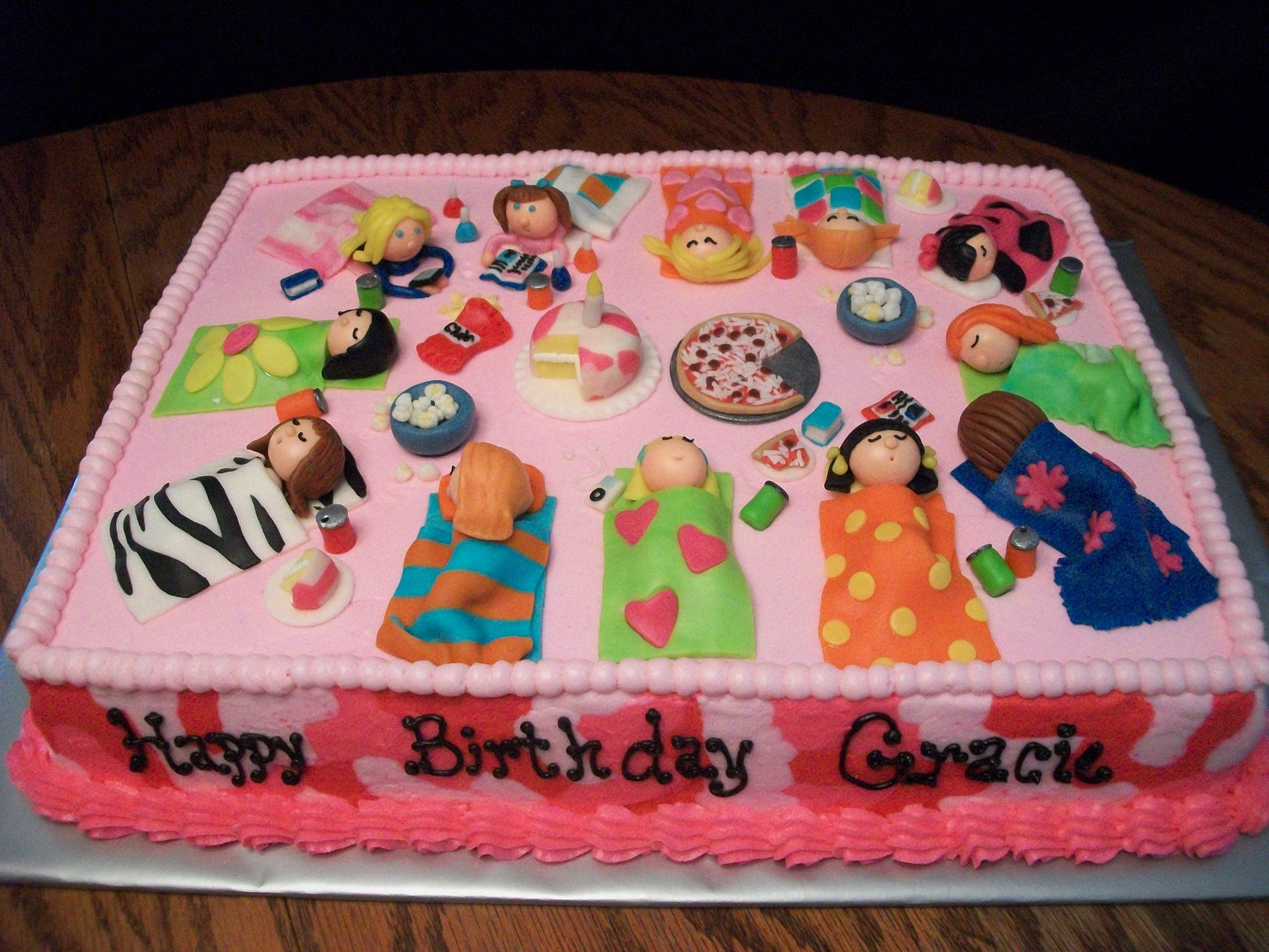 Outstanding Slumber Party Cake Slumber Party Birthday Party Cakes Funny Birthday Cards Online Inifodamsfinfo