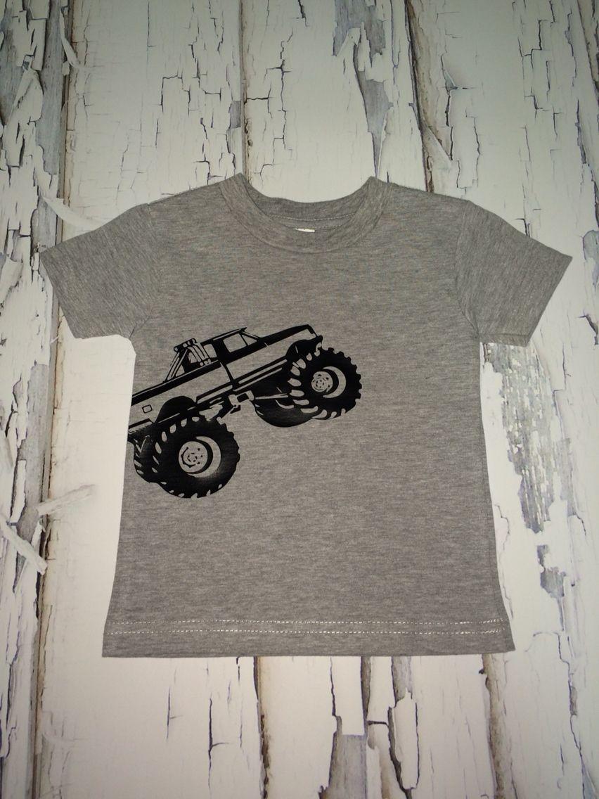 Monster Truck Shirt Htv Silhouette Truck Shirts Monster Trucks Monster Truck Theme Party