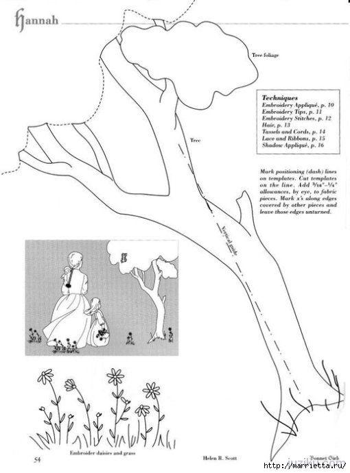 Лоскутное шитье. Журнал Bonnet Girls (50) (510x690, 111Kb) | dibujos ...