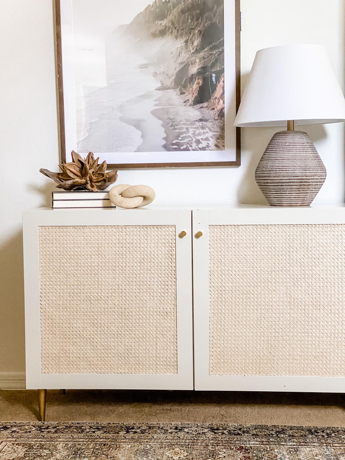 Cane Sideboard IKEA DIY Hack