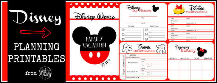 Disney Planning Printables- Free! - Lovely Commotion | DISNEY ...