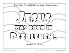 8af1e81fc7b84c8574b8915dd747ce1a » Jesus Born In Bethlehem Coloring Page