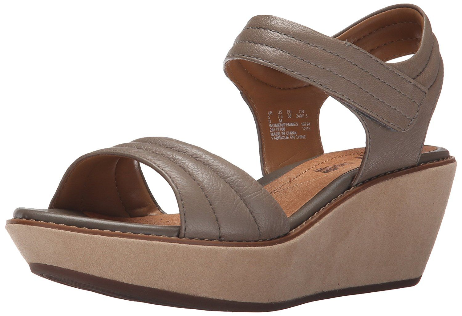 Clarks Women's Hazelle Alba Wedge Sandal >>> To view further, visit now :  Clarks sandals