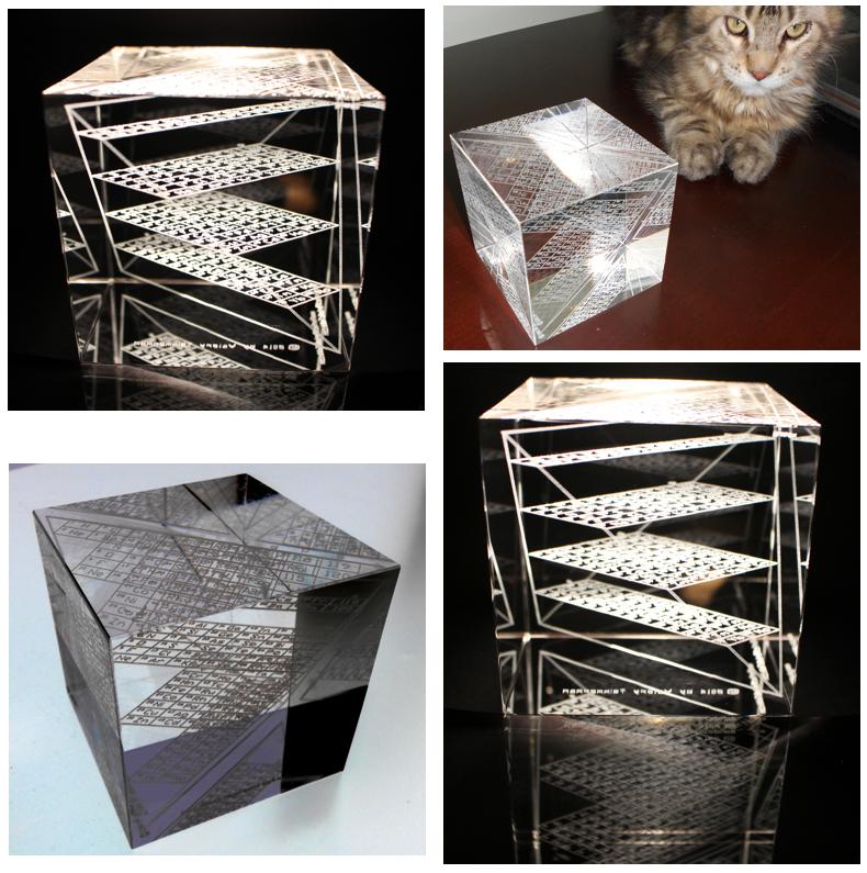 ADOMAH Periodic Table Glass Cube, 2014