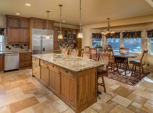 For Sale 700 000 Tuscan Kitchen W X2f Large Slab Granite Island Black Walnut Cabinets Solid Knotty Ald Tuscan Kitchen Vaulted Living Rooms Kitchen Design