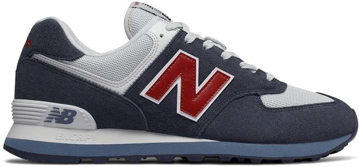 New Balance 574 Classic Core Plus Navy Red in 2020 | New ...