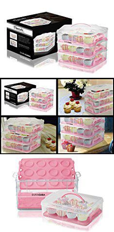 36 Cupcake Carrier Fair Muffin Storage Containersduracasa Cupcake Carrier  Cupcake Holder Inspiration Design