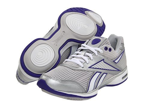 Need a new set of these Reebok EasyTone Reecommit Pure Silver/White/Team Purple/Steel - from @6pm for the gym