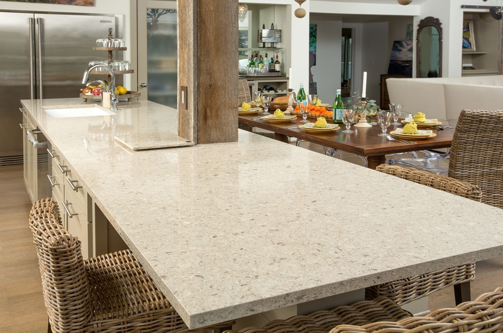 Contemporary Kitchen With Silestone Quartz Countertop In