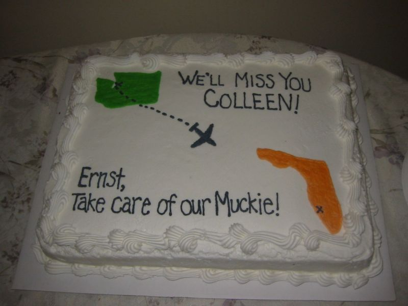 Going Away Party Cake Both States Shown With Images Going Away Cakes Going Away Parties Moving Away Parties