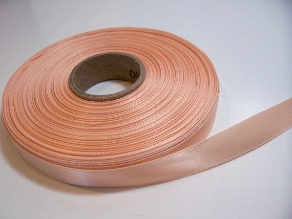 Orange Cream DoubleFaced Satin Ribbon 5/8 inch by GriffithGardens, $3.25