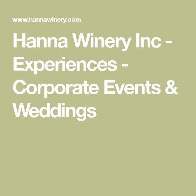 Weddings Hanna Winery