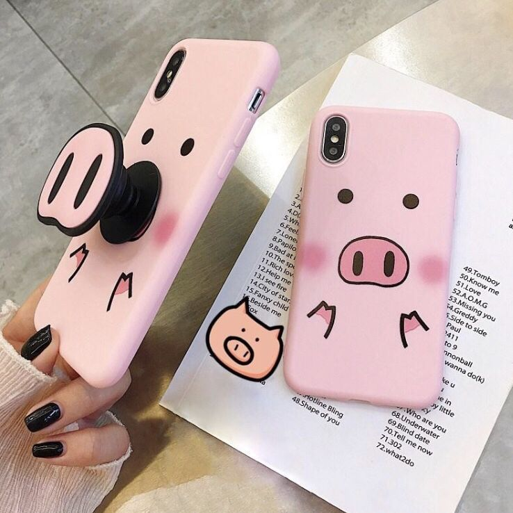 Get this cute pig phone case stand is included free