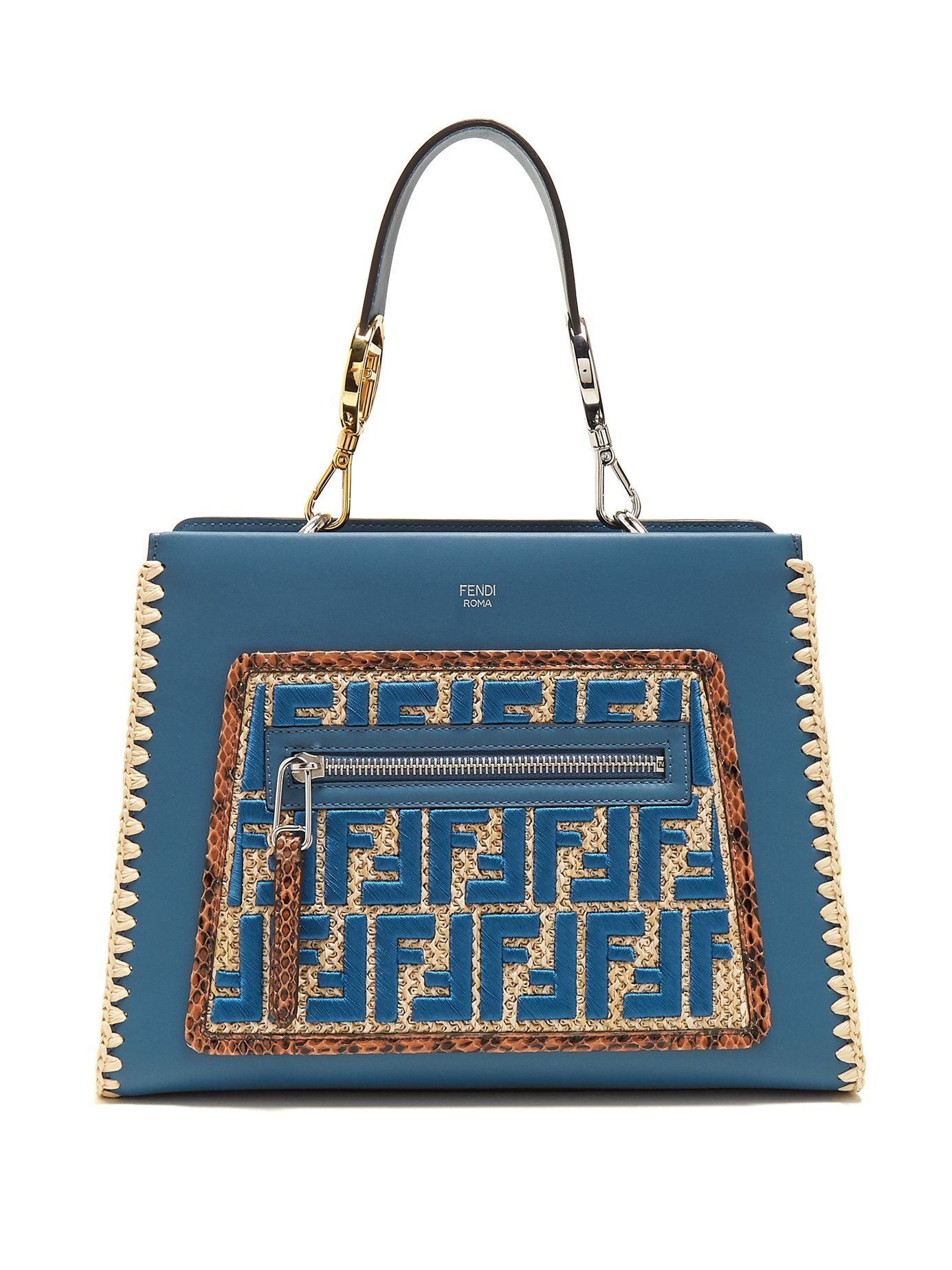 04d580440ad4 Click here to buy Fendi Runaway small snakeskin-trimmed leather bag at  MATCHESFASHION.COM