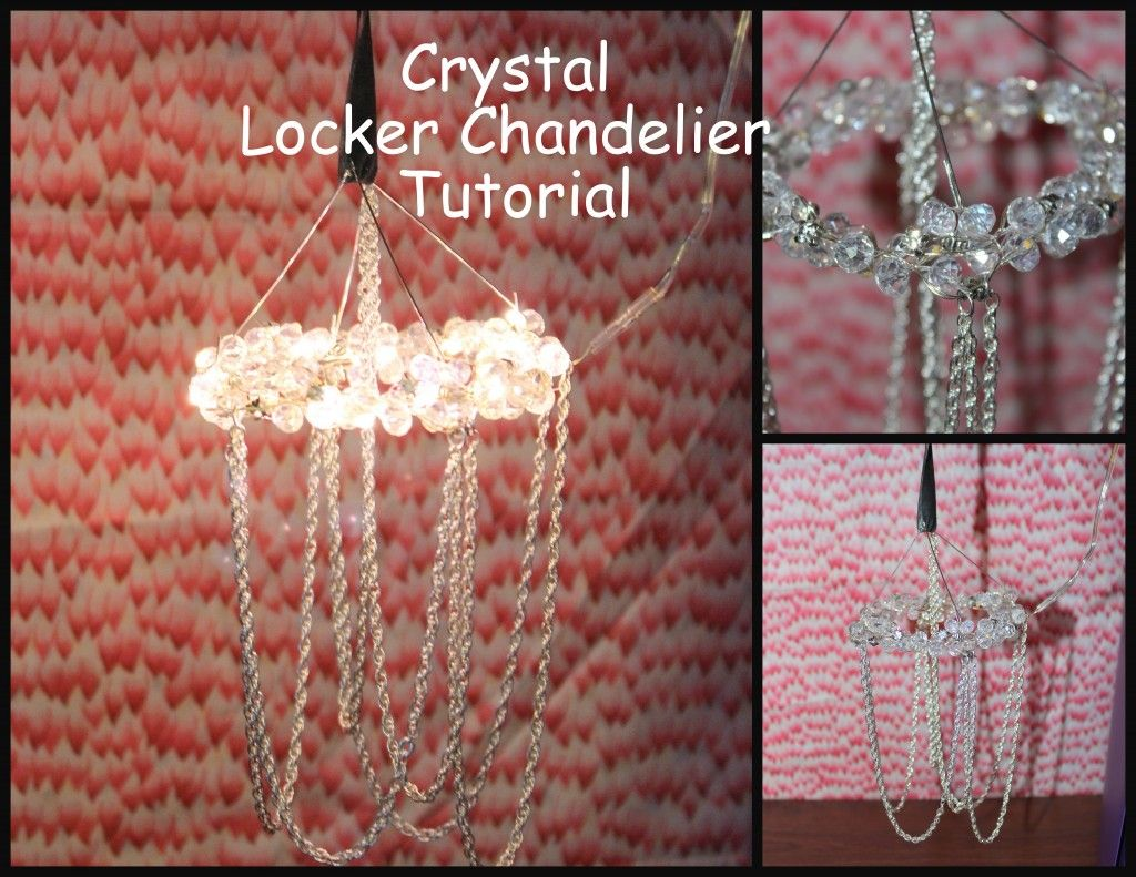 Locker chandelier tutorial locker accessories my work pinterest locker chandelier tutorial locker accessories arubaitofo Image collections