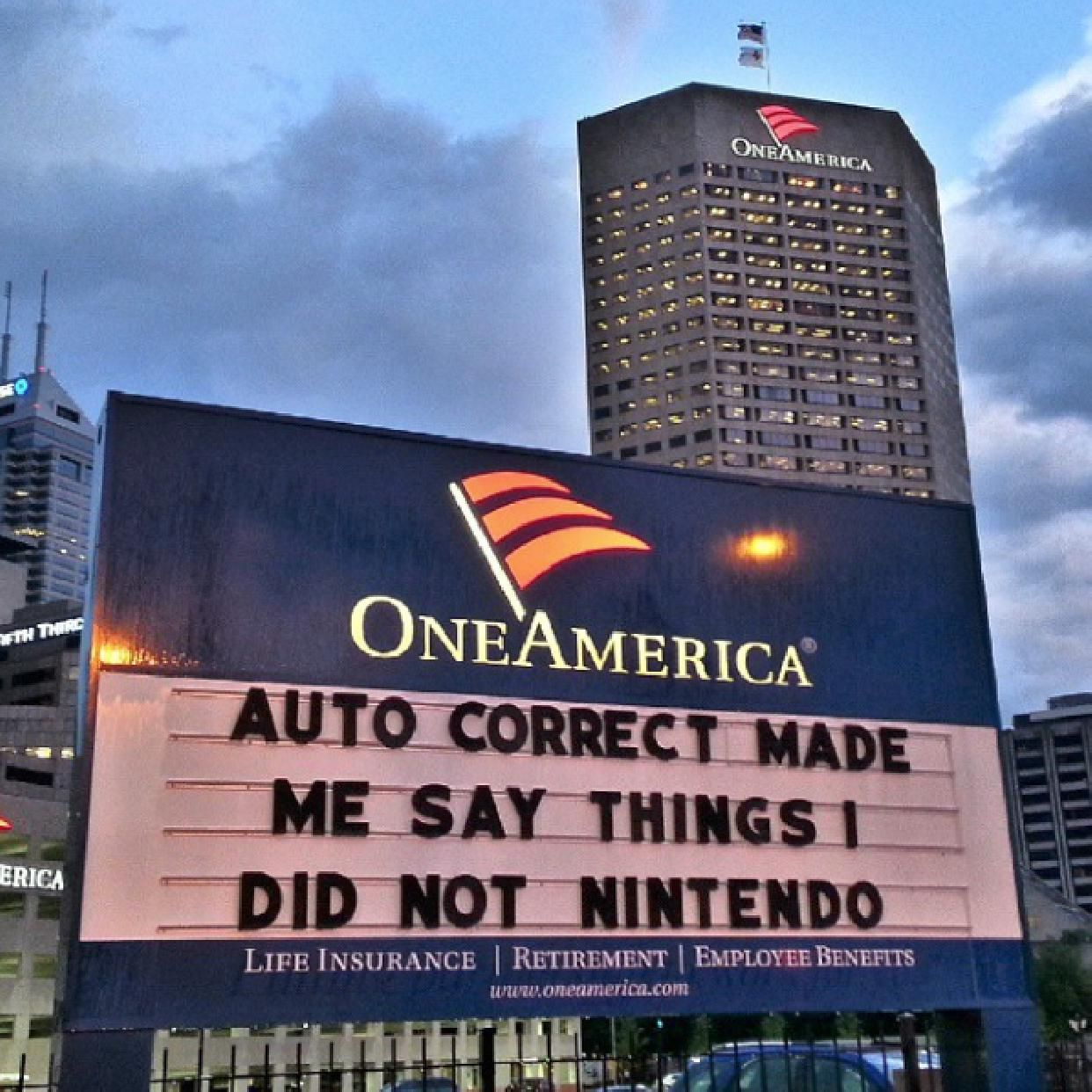 2014 Oneamerica Signboard Indianapolis Indiana Indiana Thing 1 Sayings