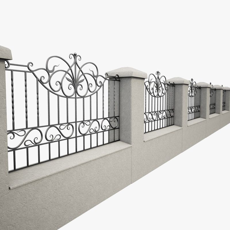3d Wrought Iron Fence Metal Model Iron Fence Wrought Iron