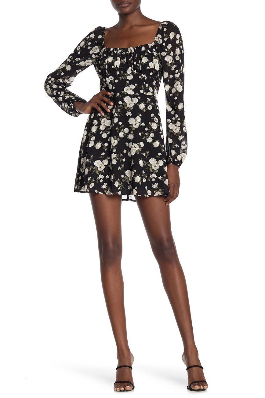 Row A Emma Floral Mini Dress Nordstrom Rack Floral Mini Dress Mini Dress Nordstrom Dresses [ 1300 x 868 Pixel ]