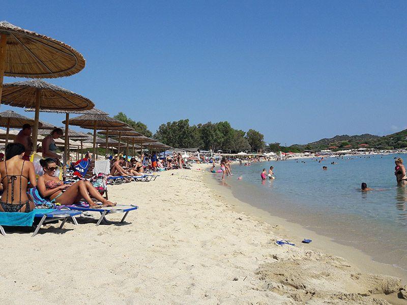 Ammouliani island in Halkidiki Halkidiki greece and Square kilometer