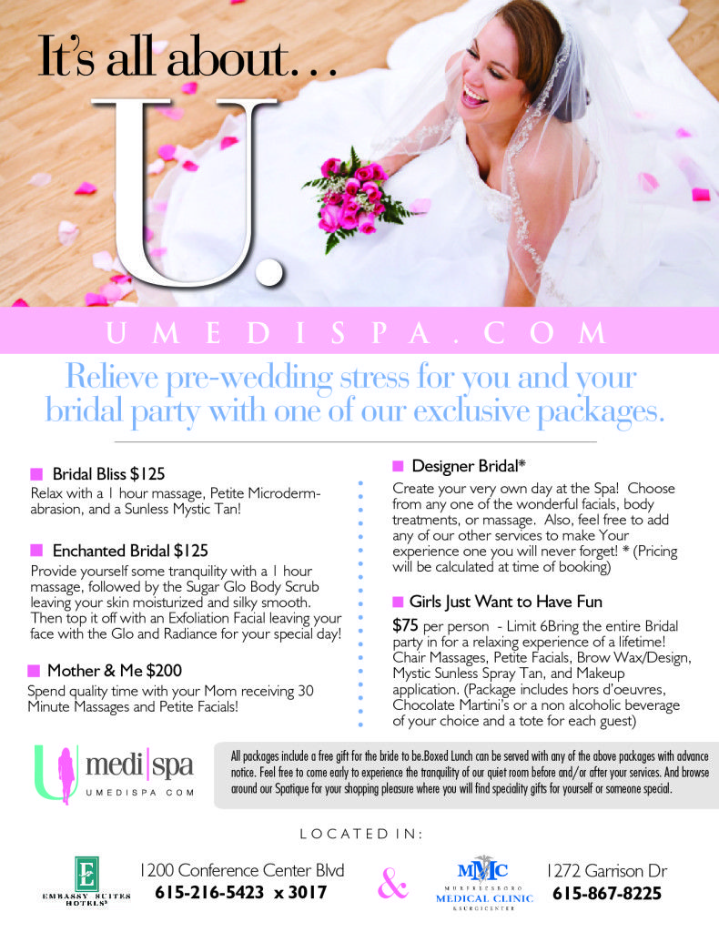 Relieve Pre Wedding Stress For You And Your Bridal Party With One Of Our Exclusive Packages Design Your Own Day At The Wedding Stress Pre Wedding Bridal Party