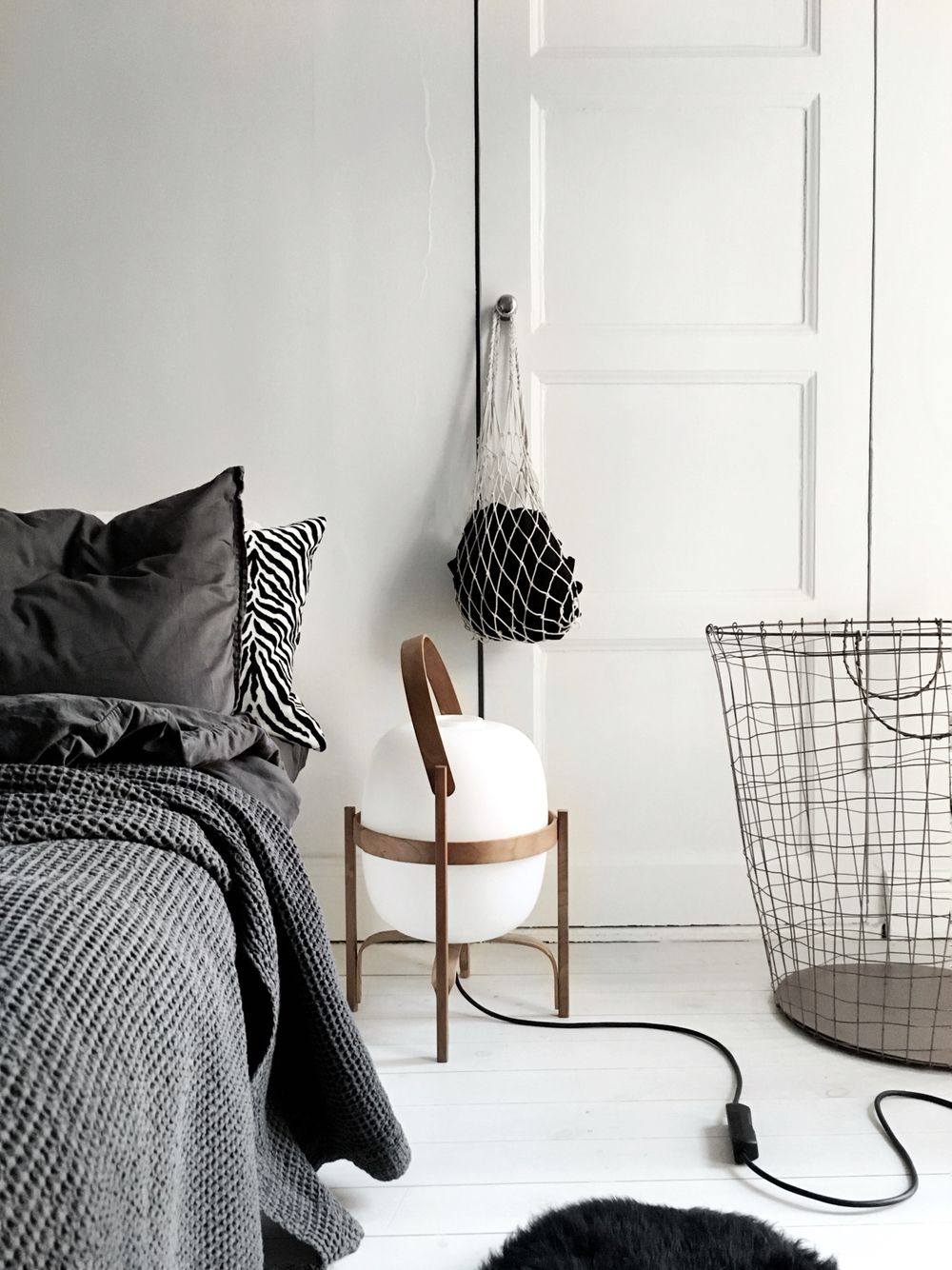 Cesta light by Santa Cole in the home of Therese Sennerholt. Looking ...