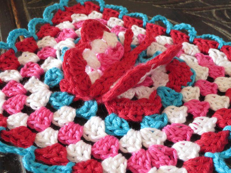 3D Butterfly Granny Square Crochet Pattern | Häkeln