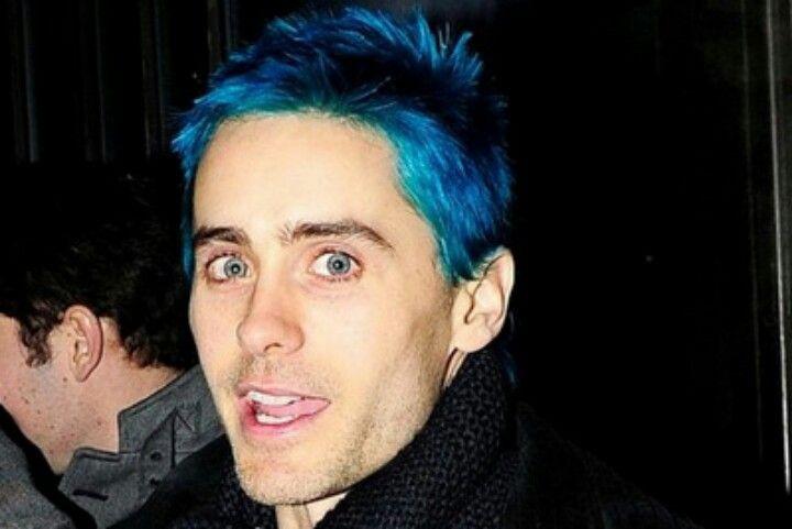 Jared Leto Blue Hair Coloured Hair In 2019 Blue Hair Hair