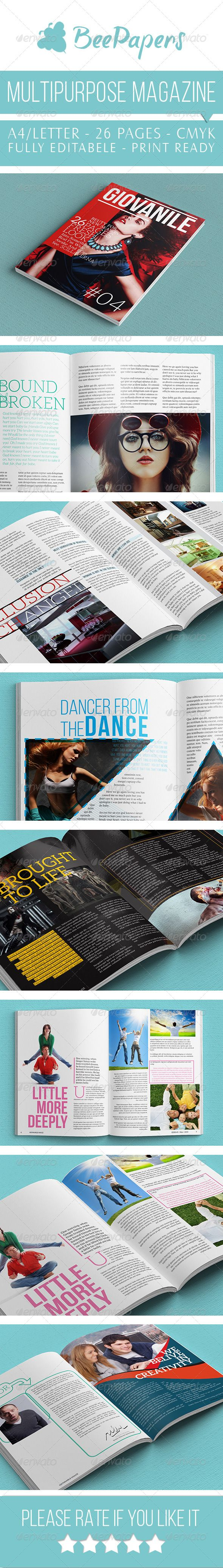 Multipurpose Magazine Indesign by BeePapers Multipurpose Magazine ...
