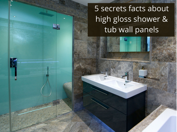 5 Secret Facts About High Gloss Acrylic Shower And Tub Wall Panels Acrylic Shower Walls Bathroom Wall Panels Bathroom Shower Panels
