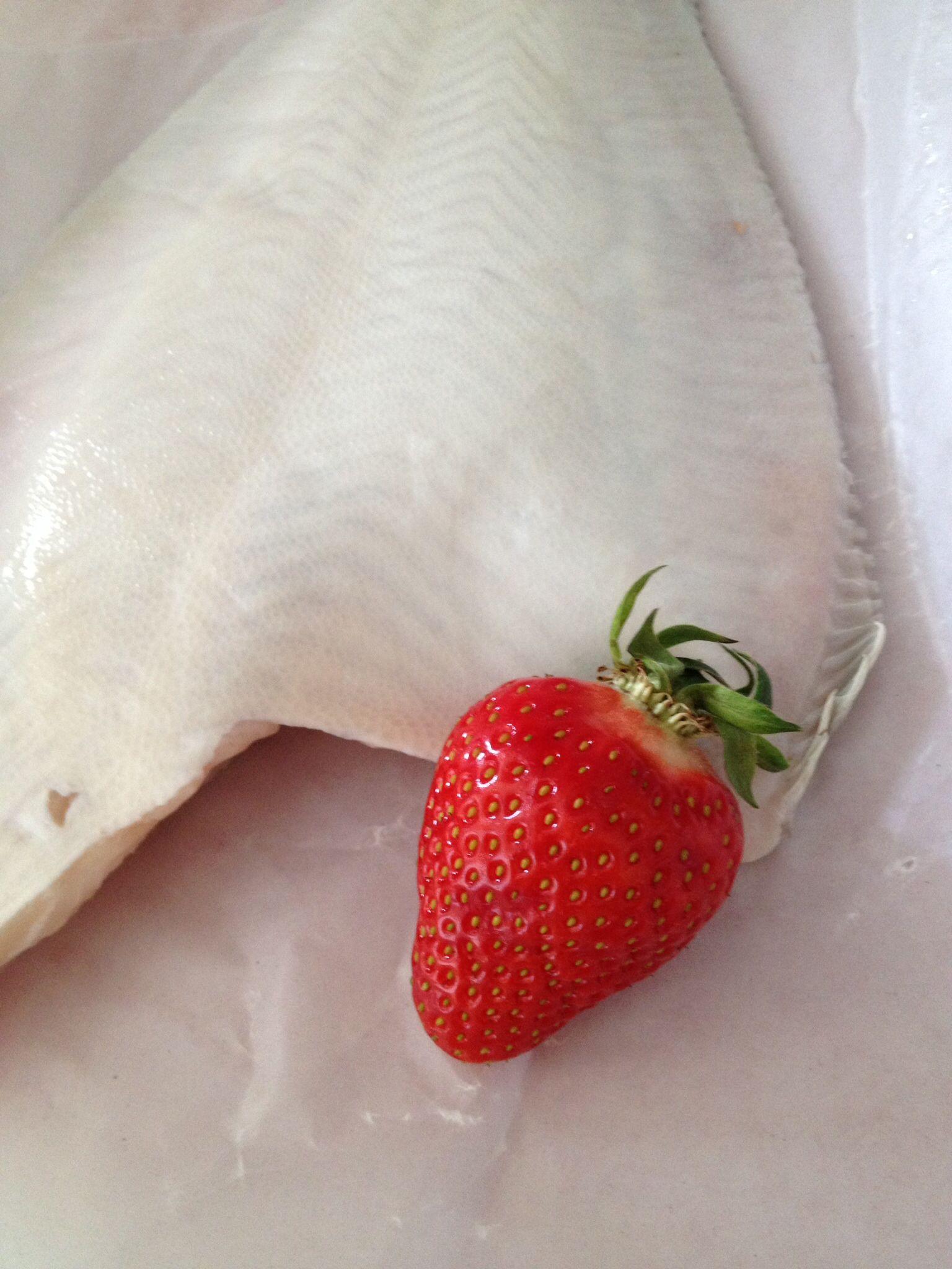 Maischolle! Dazu Erdbeeren im Salat, ach.
