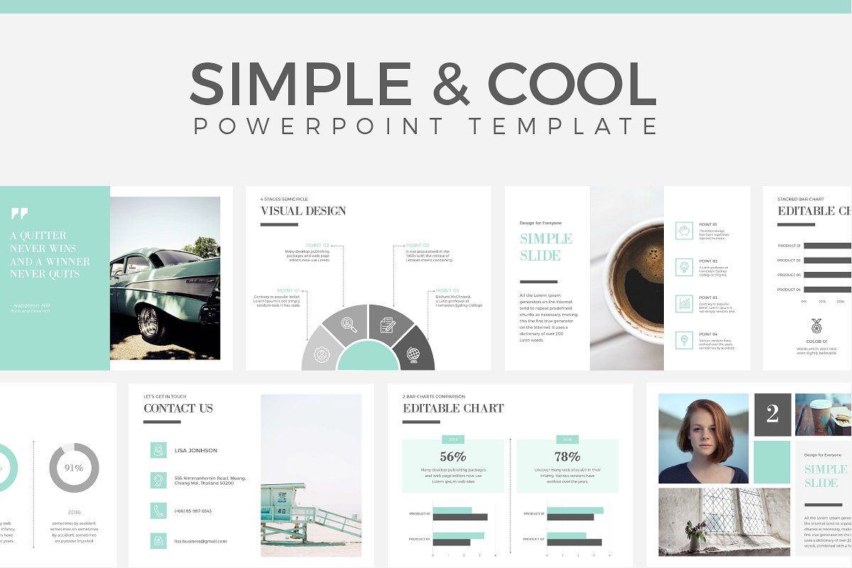 Simple Cool Powerpoint Template Cool Powerpoint Cool Powerpoint Templates Powerpoint Templates