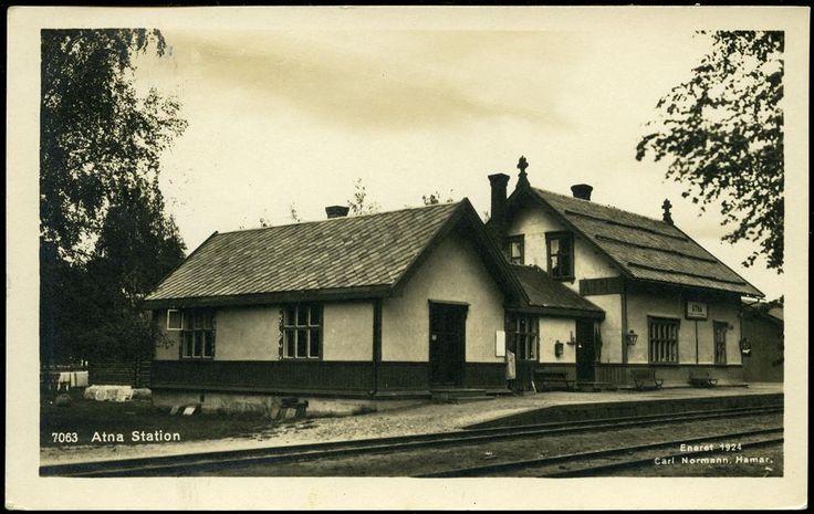 Atna stasjon, Stor-Elvdal 1924 foto Normann