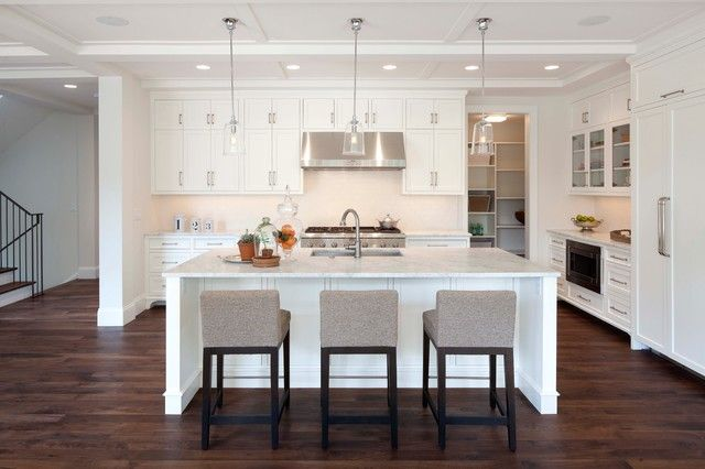 Kitchen Island Vs Peninsula Which Layout Is Best For Your Home Designed Stools For Kitchen Island Modern Kitchen Design Kitchen Layout