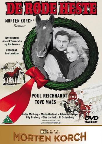 De Rode Heste 1950 Om Kampen For Studeriet Med De Rode Heste Heste Film Plakat Film