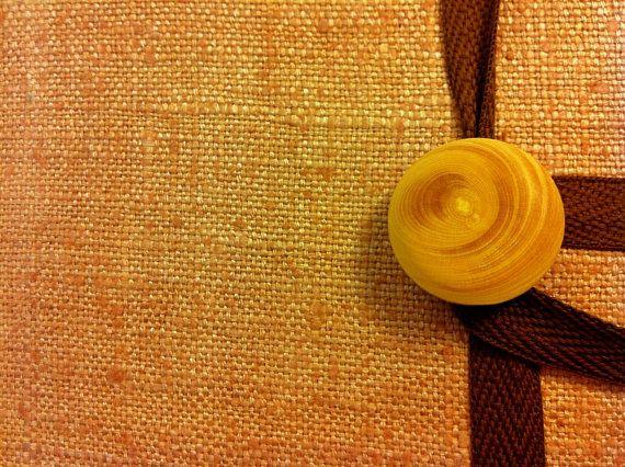 Brown raw silk Diary / Journal / Notebook bound by Newleafjournals, $34.50